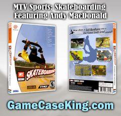 MTV Sports: Skateboarding Featuring Andy MacDonald Sega Dreamcast Game Case