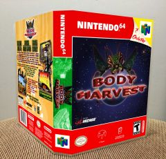 Body Harvest N64 Game Case with Internal Artwork