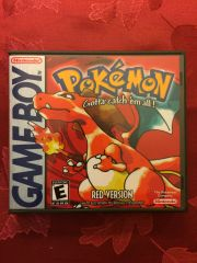 Pokemon Red GameBoy Game Case