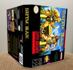 Battle Blaze SNES Game Case with Internal Artwork
