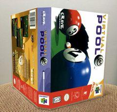 Virtual Pool 64 N64 Game Case with Internal Artwork