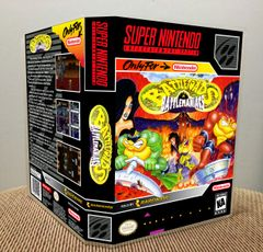 Battletoads in Battlemaniacs SNES Game Case with Internal Artwork