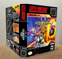 Biker Mice from Mars SNES Game Case with Internal Artwork