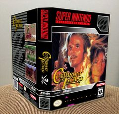 Cutthroat Island SNES Game Case with Internal Artwork