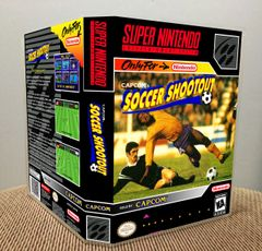 Capcom's Soccer Shootout SNES Game Case with Internal Artwork