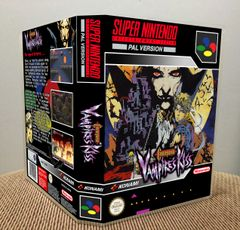 Castlevania: Vampire's Kiss SNES Game Case with Internal Artwork