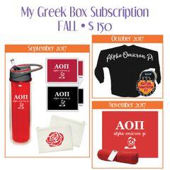 My Greek Box Subscription • Fall • Alpha Omicron Pi