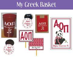 My Greek Basket • Alpha Omicron Pi