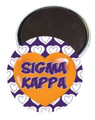 Sigma Kappa Heart Magnet