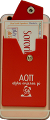 Alpha Omicron Pi Cell Phone Pocket with Snap Closure