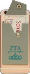 Zeta Tau Alpha Cell Phone Pocket with Snap Closure