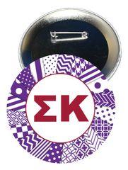 Sigma Kappa Letters Button