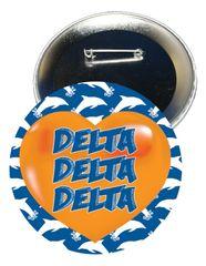 Delta Delta Delta Heart Button