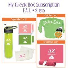 My Greek Box Subscription • Fall • Delta Zeta
