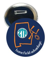 Zeta Tau Alpha Auburn Homefield Advantage Gameday Button
