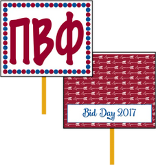 Pi Beta Phi Bid Day Hand Fan