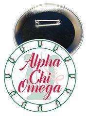 Alpha Chi Omega Sorority Button