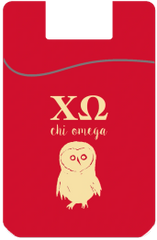 Chi Omega Cell Phone Pocket - Red
