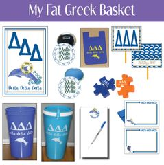My Fat Greek Basket • Delta Delta Delta