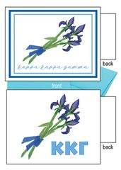 Kappa Kappa Gamma Flower Notecards