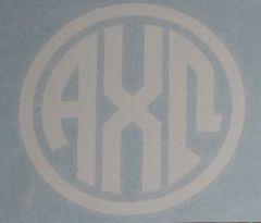 "Alpha Chi Omega Vinyl Decal - 5"" White Circle"