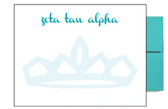 Zeta Tau Alpha Background Postcards