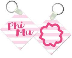 Phi Mu Key Chain