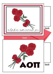 Alpha Omicron Pi Flower Notecards