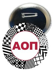 Alpha Omicron Pi Letters Button