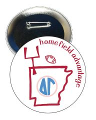 Delta Gamma Arkansas Homefield Advantage Gameday Button