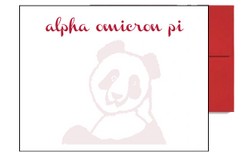 Alpha Omicron Pi Background Postcards