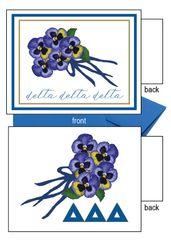 Delta Delta Delta Flower Notecards
