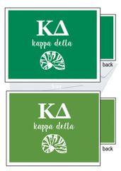 Kappa Delta Letter Notecards