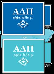 Alpha Delta Pi Letter Notecards