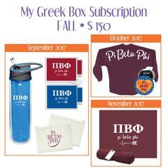 My Greek Box Subscription • Fall • Pi Beta Phi