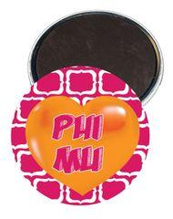 Phi Mu Heart Magnet