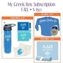 My Greek Box Subscription • Fall • Alpha Delta Pi