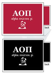 Alpha Omicron Pi Letter Notecards