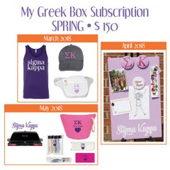 My Greek Box Subscription • Spring • Sigma Kappa