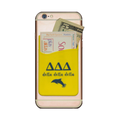 Delta Delta Delta Cell Phone Pocket - Yellow