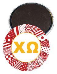 Chi Omega Logo Letters Magnet