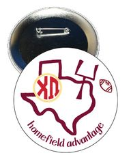 Chi Omega Texas A&M Homefield Advantage Gameday Button
