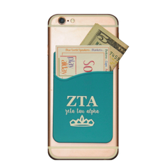 Zeta Tau Alpha Cell Phone Pocket - Blue