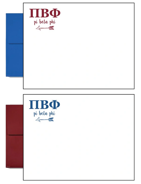 pi beta phi letter postcards