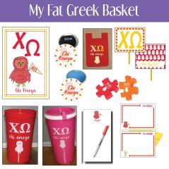 My Fat Greek Basket • Chi Omega