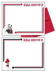 Alpha Omicron Pi Arrow Postcards