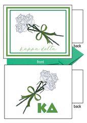 Kappa Delta Flower Notecards