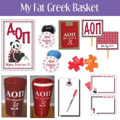 My Fat Greek Basket • Alpha Omicron Pi