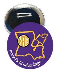 Kappa Alpha Theta LSU Homefield Advantage Gameday Button