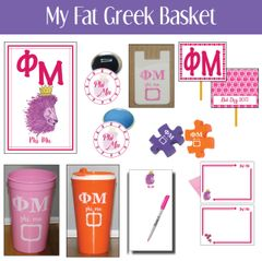My Fat Greek Basket • Phi Mu